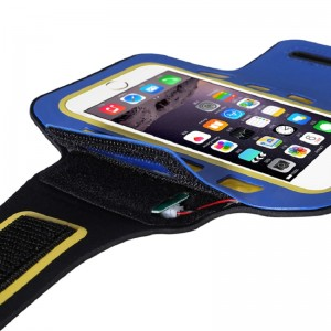 Free Sample Can be Customized Running Sports LED Light Black Armband Phone Cell Phone Bag